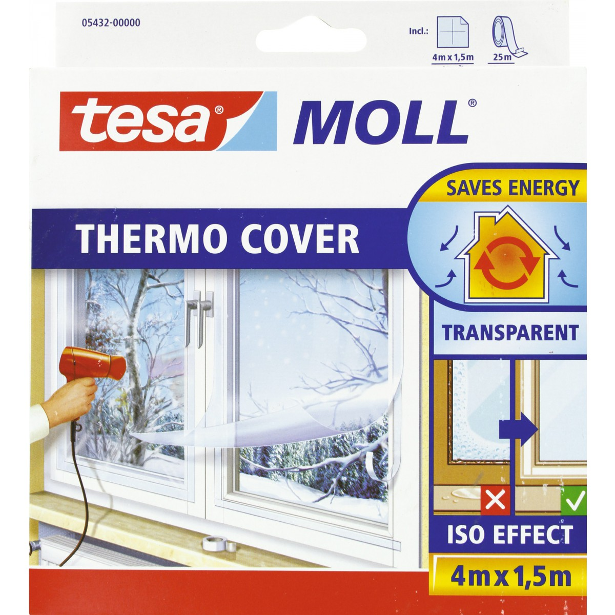 Film de survitrage thermo cover tesa longueur 4 m - Film de survitrage ...