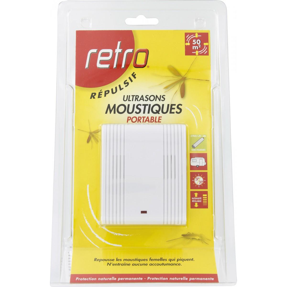 Appareil ultrasons moustiques retro portable piles de appareil ultrasons r pulsif for Peinture anti moustique
