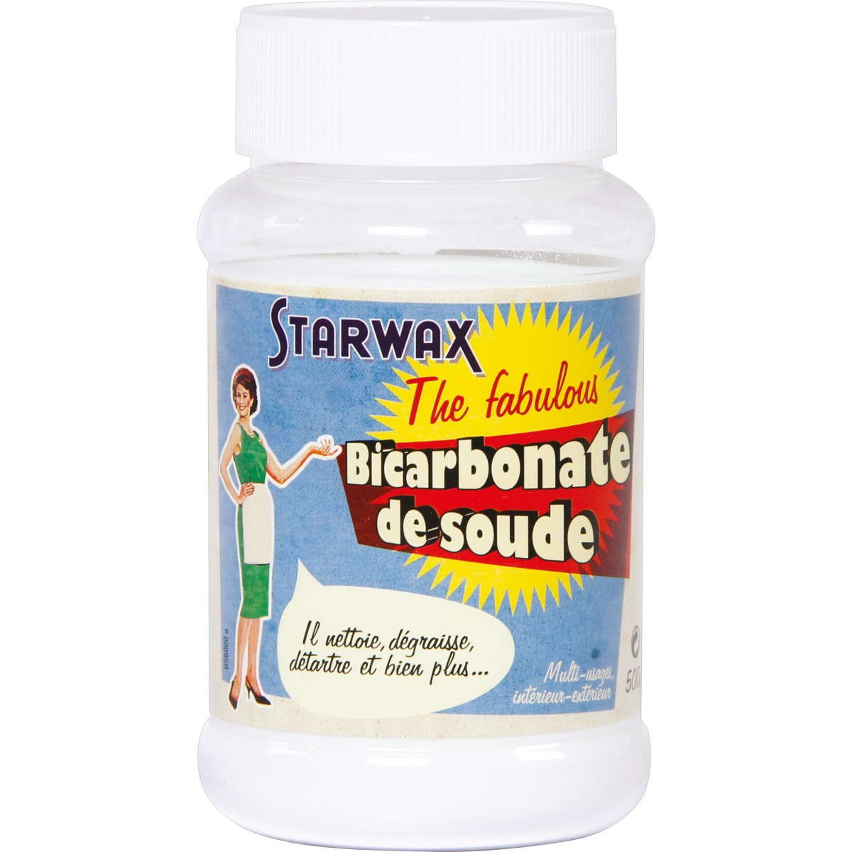 bicarbonate de soude starwax the fabulous 500 g de bicarbonate de soude. Black Bedroom Furniture Sets. Home Design Ideas