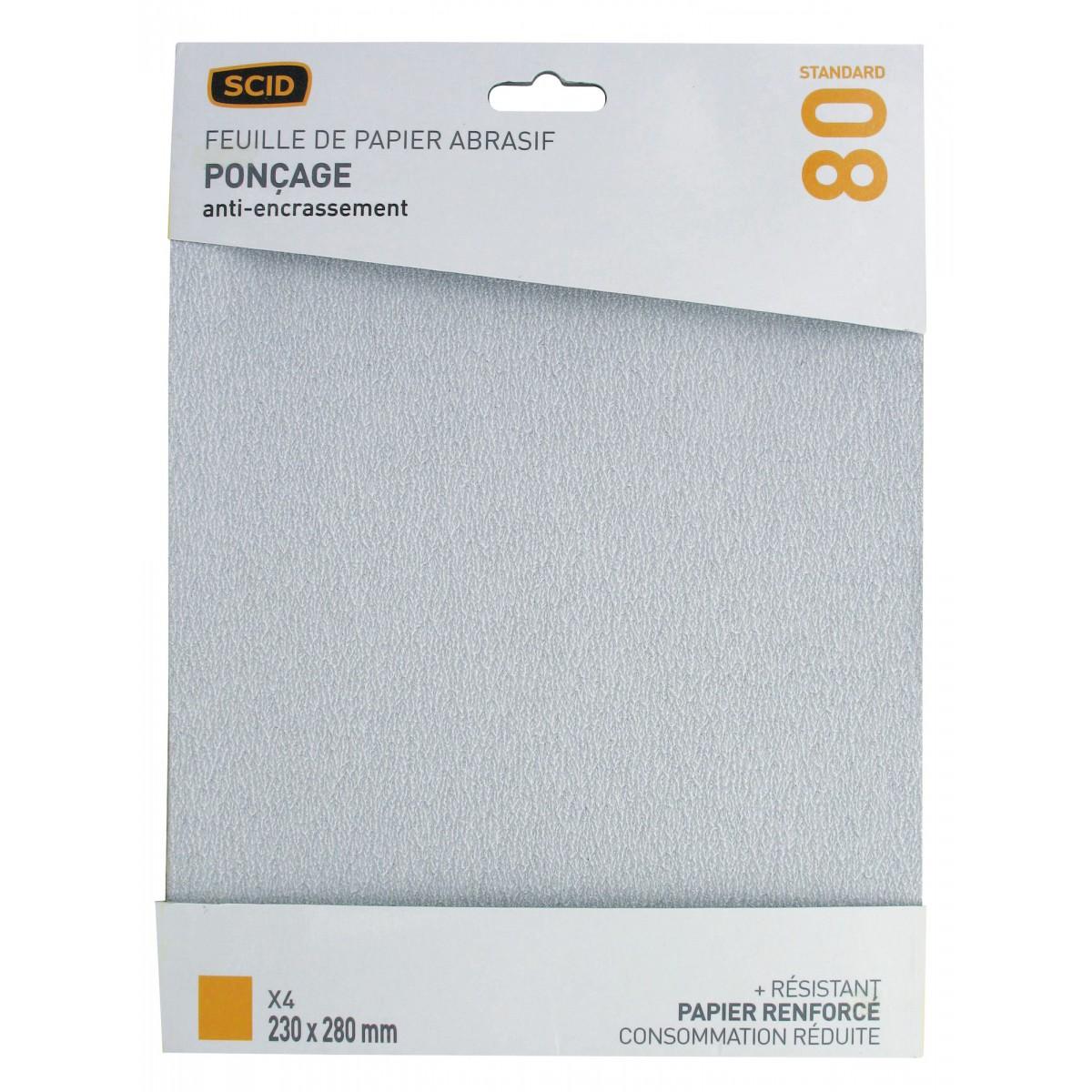 papier corindon anti encrassement scid grain 80 vendu par 4. Black Bedroom Furniture Sets. Home Design Ideas