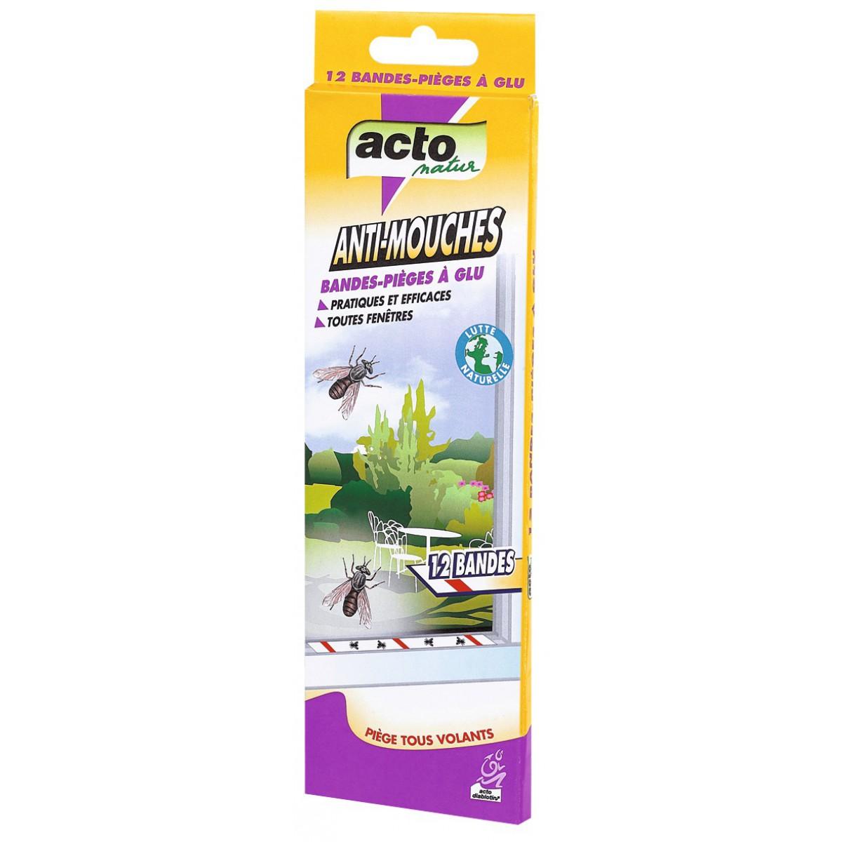 Mouches bande de glue acto 12 bandes de insecticide mouches 1072088 mon magasin g n ral for Peinture anti mouche