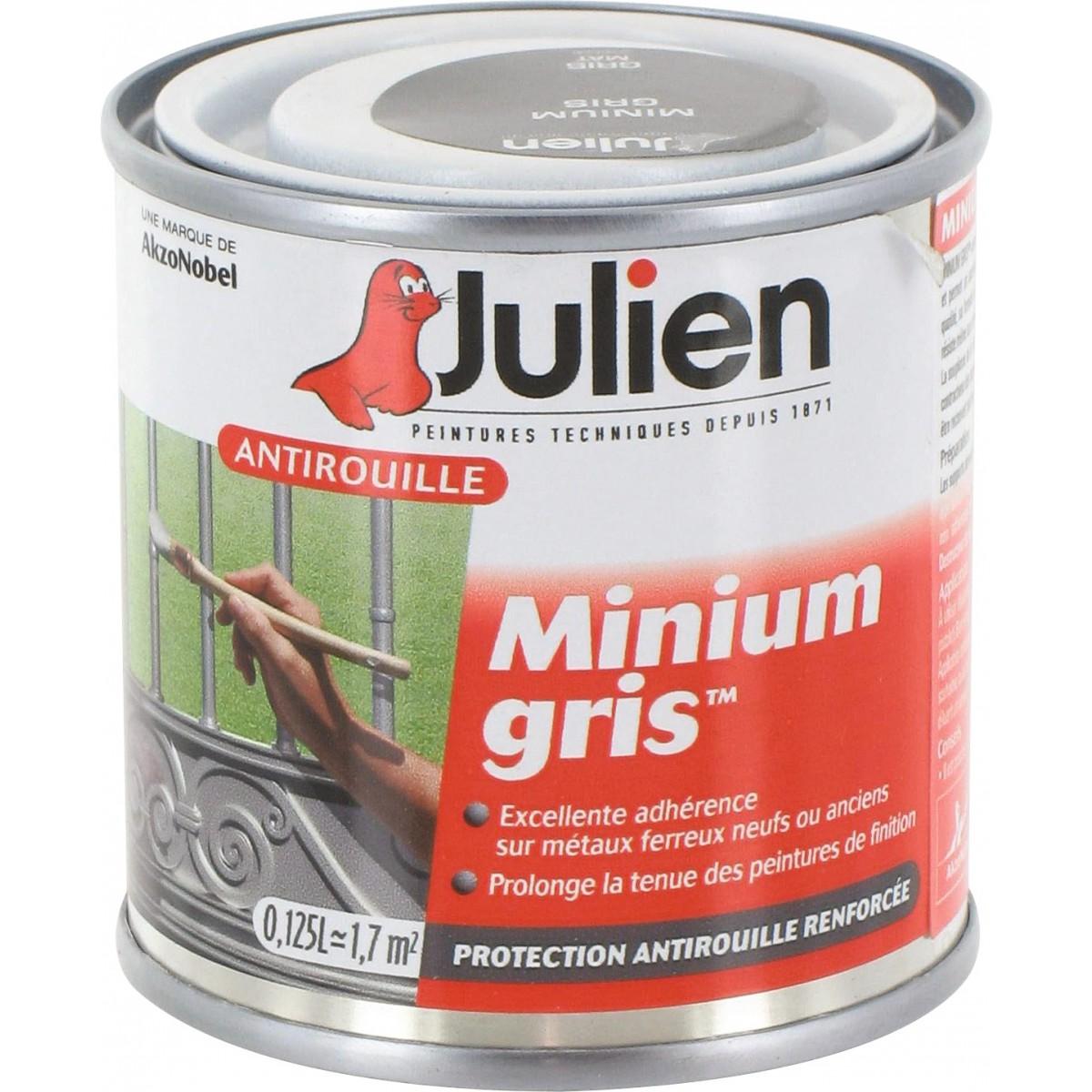 antirouille minium gris julien bo te 125 ml de antirouille minium gris. Black Bedroom Furniture Sets. Home Design Ideas