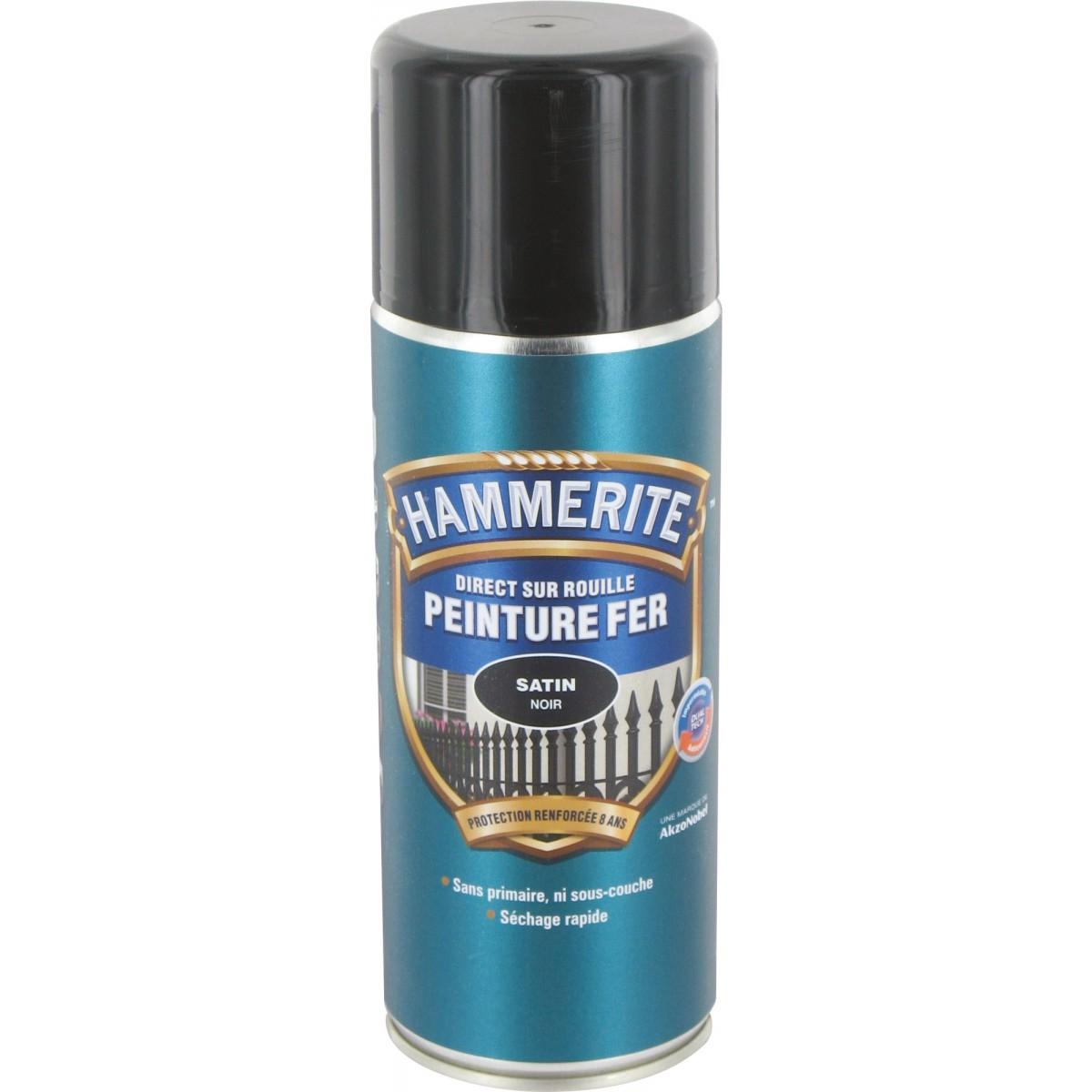 Peinture aérosol Hammerite - Satiné - Noir de Peinture aérosol 1065504 | Mon Magasin Général