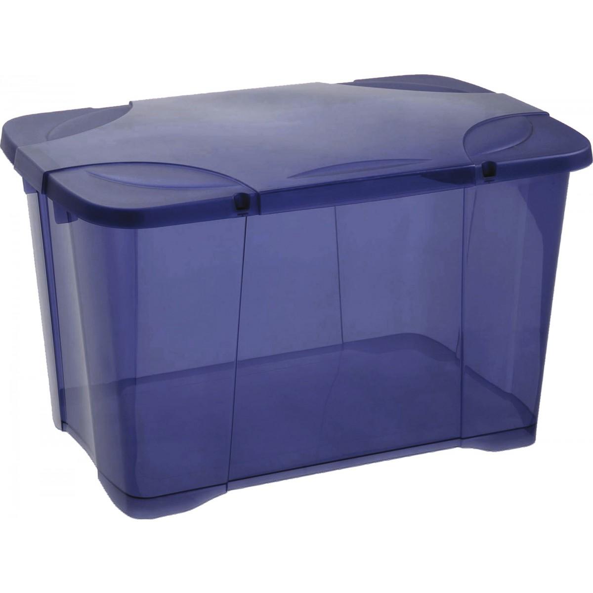 Coffre de rangement Clip'Box Eda - Bleu profond - 60 l de Coffre de rangement