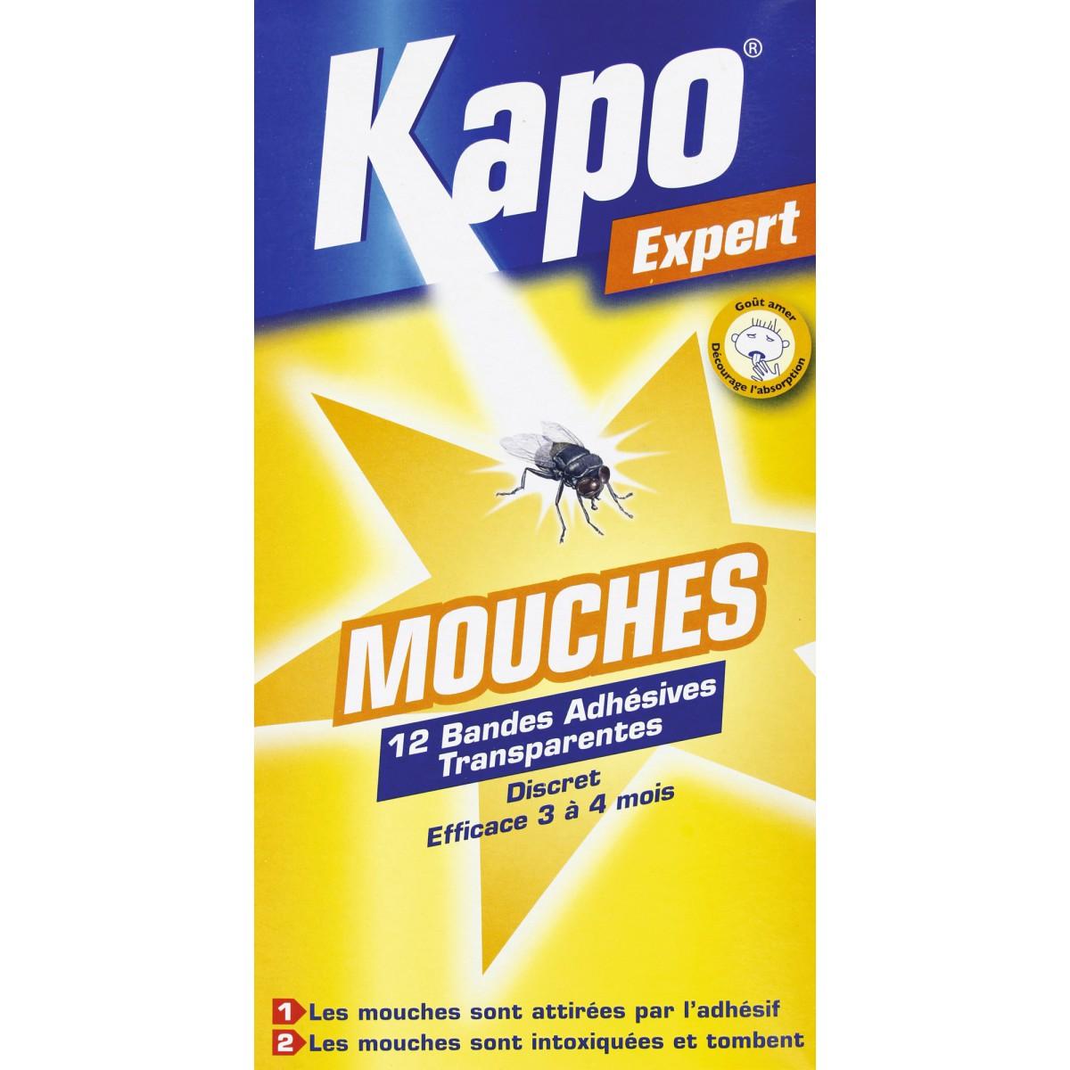 Mouches sticker kapo expert 12 bandes transparentes de insecticide for Peinture anti mouche