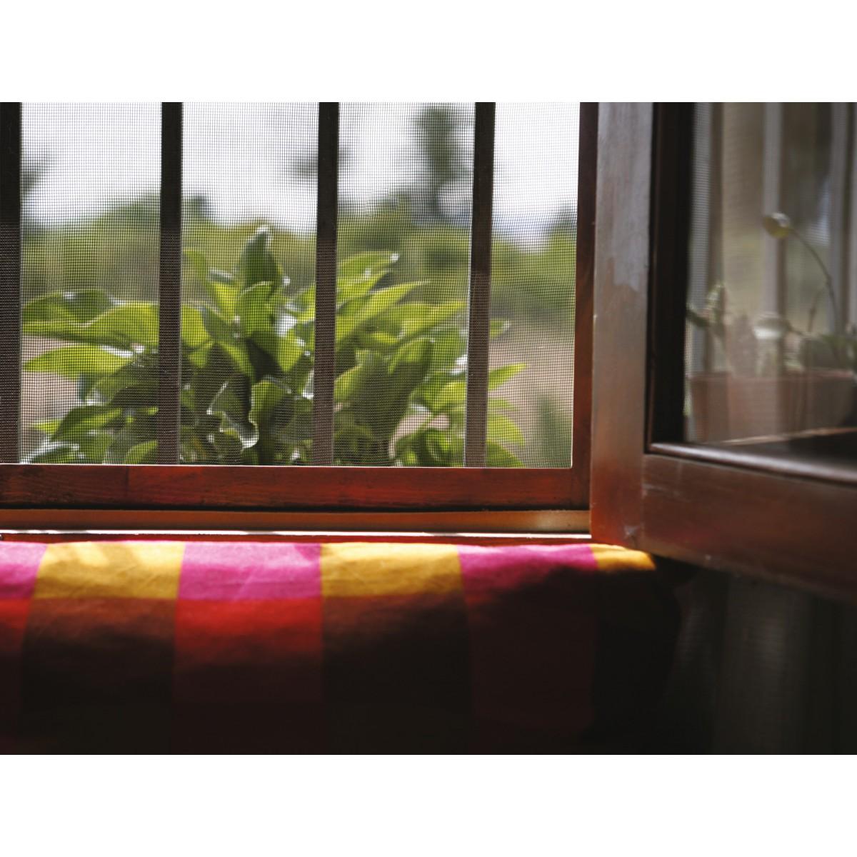 Toile moustiquaire fibre de verre catral gris longueur - Fenetre fibre de verre ...