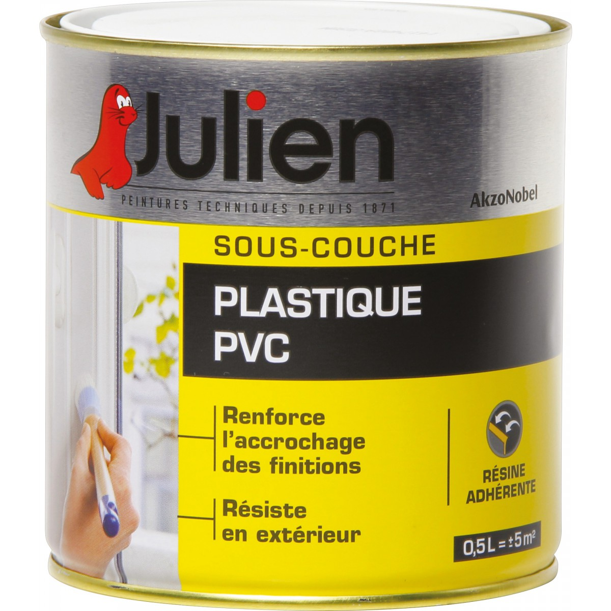 sous couche julien plastique pvc j2 500 ml de peinture. Black Bedroom Furniture Sets. Home Design Ideas