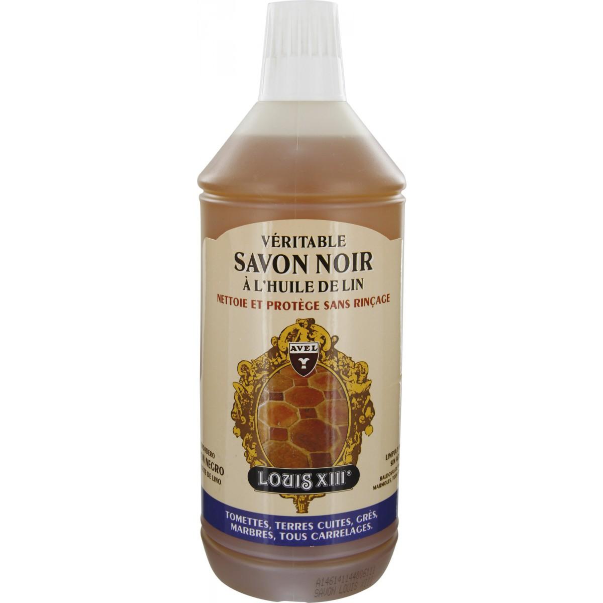 Savon noir l 39 huile de lin avel louis xiii flacon 1 l for Huile de lin carrelage