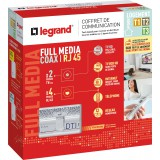 Coffret de communication Full Media coax / RJ45 Legrand -  Rénovation