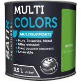Peinture multi-supports satin soyeux Batir - Vert Amazonie - 0,5 l