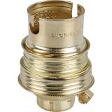 Douille B22 acier laitonné sans passage de fil L'Ebénoïd - Raccord diamètre 10 mm - Simple bague