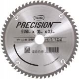 Lame pour machines stationnaires SCID - Epaisseur 3,2 mm - 60 dents - Diamètre 250 mm - Alésage 30 mm