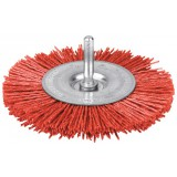 Brosse circulaire nylon rouge SCID - Diamètre 75 mm