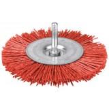 Brosse circulaire nylon rouge SCID - Diamètre 100 mm