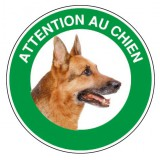 Disque rigide diamètre 18 cm Novap - Attention chien berger allemand
