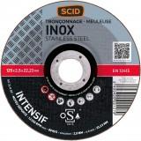 Disque à tronçonner l'inox SCID - Moyeu déporté - Diamètre 125 mm - Alésage 22,2 mm