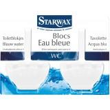 Bloc cuvette eau bleue Starwax - Effet nettoyant anti-tartre - 2 x 40 g