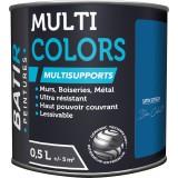 Peinture multi-supports satin soyeux Batir - Bleu cobalt - 0,5 l