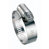 Collier à bande inox W4 Cap Vert - Diamètre 18 - 28 mm - Largeur 13 mm - Vendu par 2