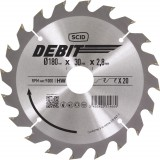 Lame au carbure pour scie circulaire SCID - Epaisseur 2,8 mm - 20 dents - Diamètre 180 mm - Alésage 30 mm