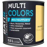 Peinture multi-supports satin soyeux Batir - Narcisse jaune - 0,5 l
