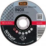 Disque à tronçonner l'inox SCID - Moyeu plat - Diamètre 125 mm - Alésage 22,2 mm