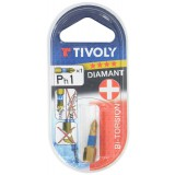 Embout torsion diamant pour vis Phillips 25 mm Tivoly - PH1 PH 2 PH3 - Vendu par 3