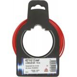Fil H07 V-U 1,5 mm² Dhome - Longueur 10 m - Rouge