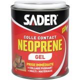 Colle contact néoprène gel Sader - Boîte métal avec spatule 750 ml
