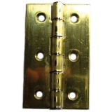 Charnière rectangulaire fer laitonné Strauss Vonderweidt - Hauteur 50 mm - Largeur 30 mm - Vendu par 2
