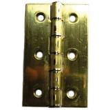 Charnière rectangulaire fer laitonné Strauss Vonderweidt - Hauteur 60 mm - Largeur 35 mm - Vendu par 2