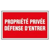 Panneau de signalisation rectangulaire Novap - Propriété privée - Défense d'entrer