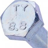 Boulon 6 pans tête hexagonale 8.8 acier zingué - 8x50/22 - 3pces - Fixpro