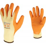 Gants manutention lourde poly-coton enduction latex Outibat - Taille 10