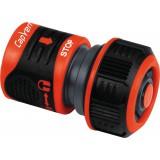 Raccord rapide stop Lock  d'arrosage avec blocage Capvert - Bi-matière - Diamètre 15 mm