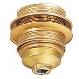 Douille E27 acier laitonné L'Ebénoïd - Raccord diamètre 10 mm