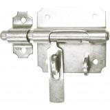 Verrou de box avec porte cadenas Torbel - Zingué blanc - Diamètre pêne 14 mm