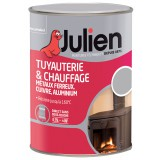 Peinture tuyauterie et chauffage Julien - Aluminium - Satiné - 250 ml