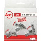 Collier de serrage Ace - 30 boitiers 9 mm - Inox