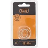 Bague de réduction métal pour lame de scie circulaire SCID - 25,4 x 22,2 mm - Vendu par 2