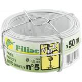 Bobinot plastifié Filiac - Blanc - Longueur 50 m