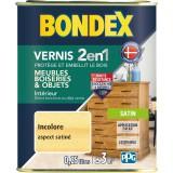 Vernis bois intérieur et extérieur 2 en 1 bondex - Aspect satiné - 250 ml