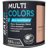 Peinture multi-supports satin soyeux Batir - Argile rose - 0,5 l