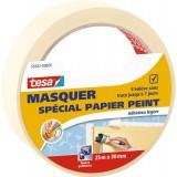 Ruban adhésif masquage spécial papier peint Tesa - Largeur 30 mm - Longueur 25 m