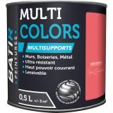 Peinture multi-supports satin soyeux Batir - Rose cyclamen - 0,5 l