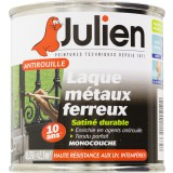 Laque antirouille Julien - Noir satiné - Boîte 250 ml