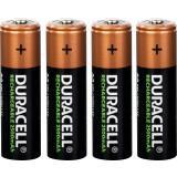 Piles rechargeables AA Duracell - Blister de 4 - LR06 - 2500 mAh -  Alcaline