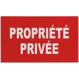 Panneau de signalisation rectangulaire Novap - Propriété privée