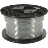 Câble acier gainé PVC Chapuis - Bobine de 50 m - Diamètre Câble 4 mm - Extérieur 6 mm