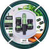 Batterie tuyau d'arrosage Néo - Cap Vert - Diamètre 15 mm - Longueur 15 m